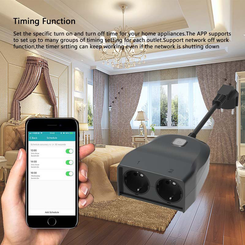 Outdoor Electrical Outlet Weatherproof Wifi Smart Strip Wireless Remote Control Support Alexa Google Home Ifttt In Socket Plug From