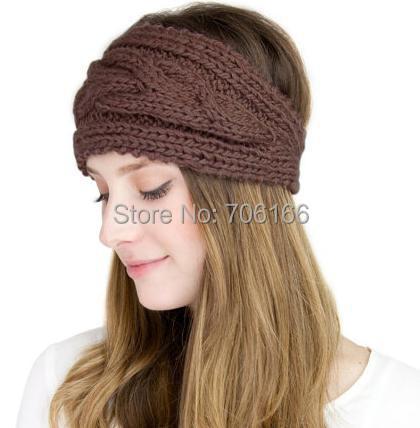 Crochet Chunky KNIT HEADBANDear WarmerWoman Head Muffbraided Interesting Free Crochet Ear Warmer Pattern With Button Closure