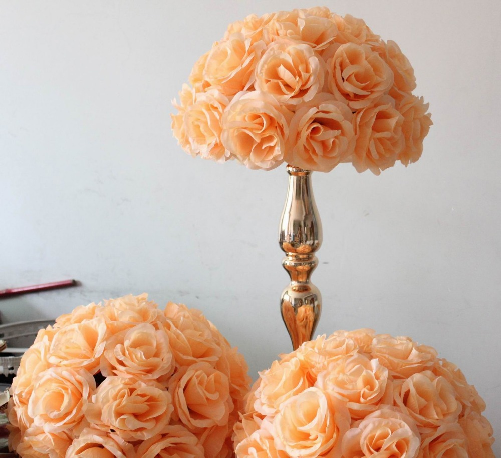 Spr peach wedding table centerpiece even planning decoration spr peach wedding table centerpiece even planning decoration artificial flower 35cm wedding silk kissing flower ball in artificial dried flowers from izmirmasajfo Gallery