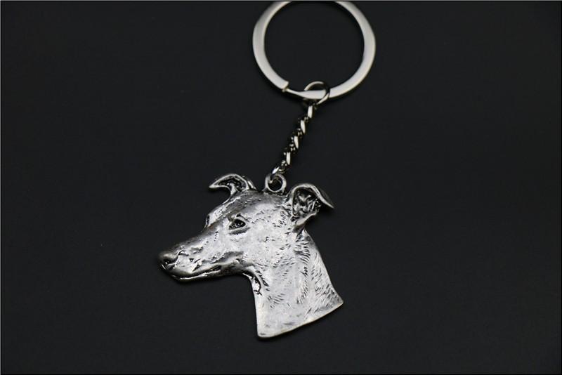 Брелок для ключей с изображением собаки популярный itallan greyhound