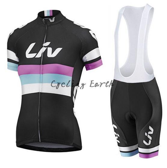 LIV 2016 women short sleeve cycling jersey bib shorts shirt set bicycle clothes jersey ropa ciclismo,gel pad