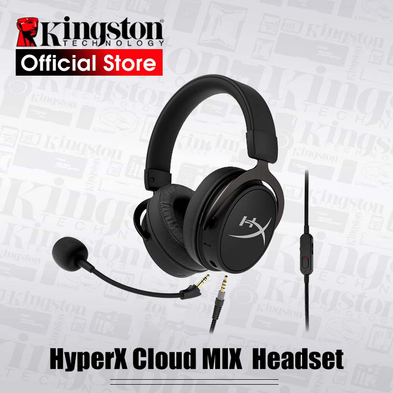 Kingston HyperX Cloud MIX Cable gaming headset Built in mic and a detachable boom mic Portable