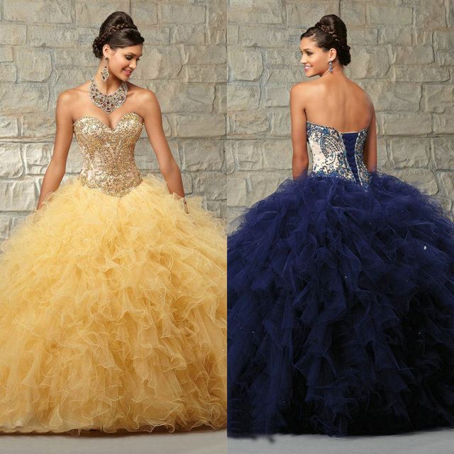 0a09b7ee60b Navy Blue Quinceanera Gowns Short Sleeve Jacket Sweetheart Yellow Red Quinceanera  Dresses Ball Gowns
