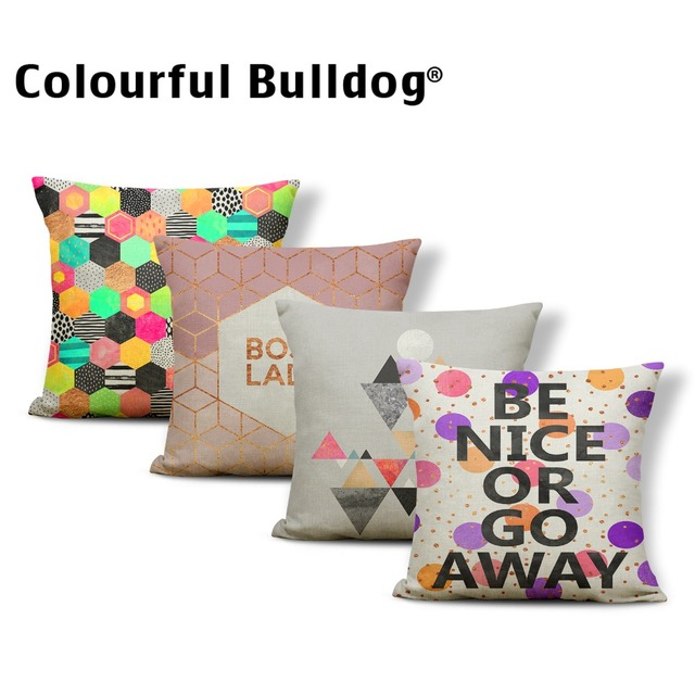Geometry Sun Cushion Covers Mountains Berg Pilow Nordic Style Bed Fascinating Medical Pillow Covers