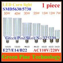 1 piece E27 E14 B22 SMD 5630 5730 24 42 60 84 98 132 165 LED corn bulb led light droplight lighting spotlight downlight led lamp