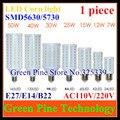 1 unidades E27 E14 B22 SMD 5630 5730 24 42 60 84 98 132 165 bulbo del maíz del LED luz led downlight led de la lámpara de iluminación droplight