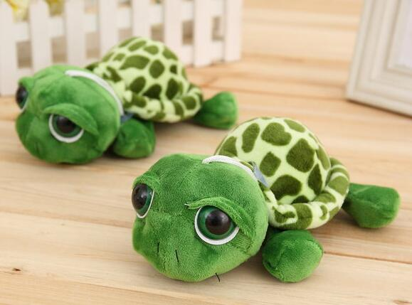 1pc Army Green Big Eyes Turtle Stuffed & Plush Toys Sea Animals Doll Pendant Best Gifts for Friends18cm