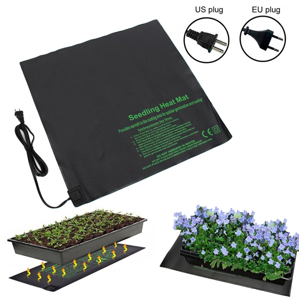 52x52cm 45W Seedling Heat Mat Plant Seed Germination Warm Hydroponic Heating Pad 110V/220V Garden Supplies