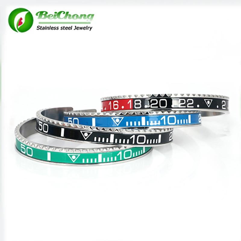 (10 Stks) Mode Brazaletes Pulseras Vintage Plated Bangle Armband Voor Mannen Rvs Manchet Snelheidsmeter Armband Groothandel Uitgebreide Selectie;