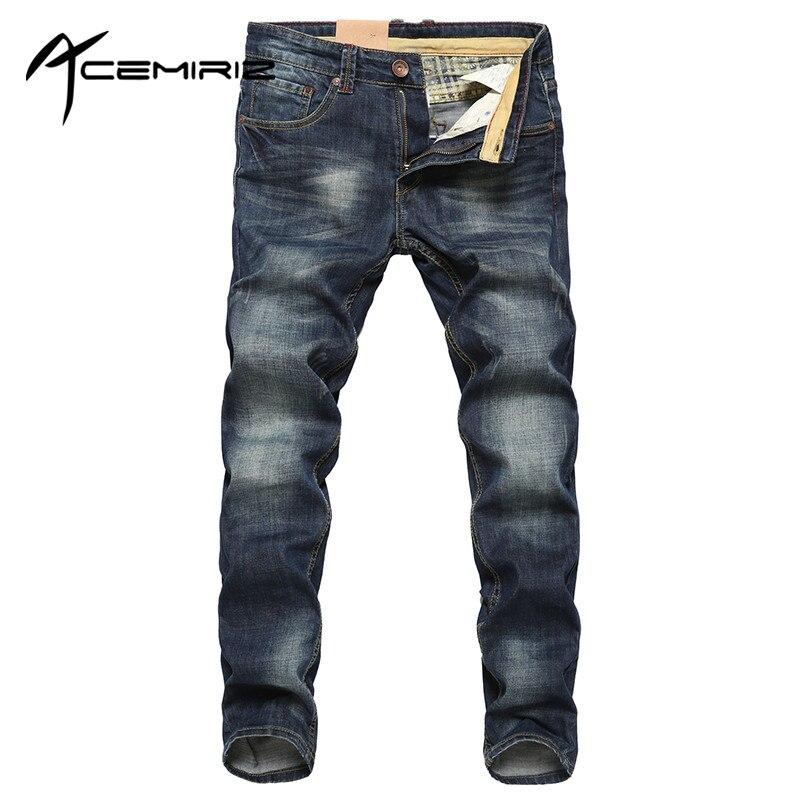 font b 2017 b font Spring Summer Mens Fashion Denim Pants Thin Blue Pockets Trousers