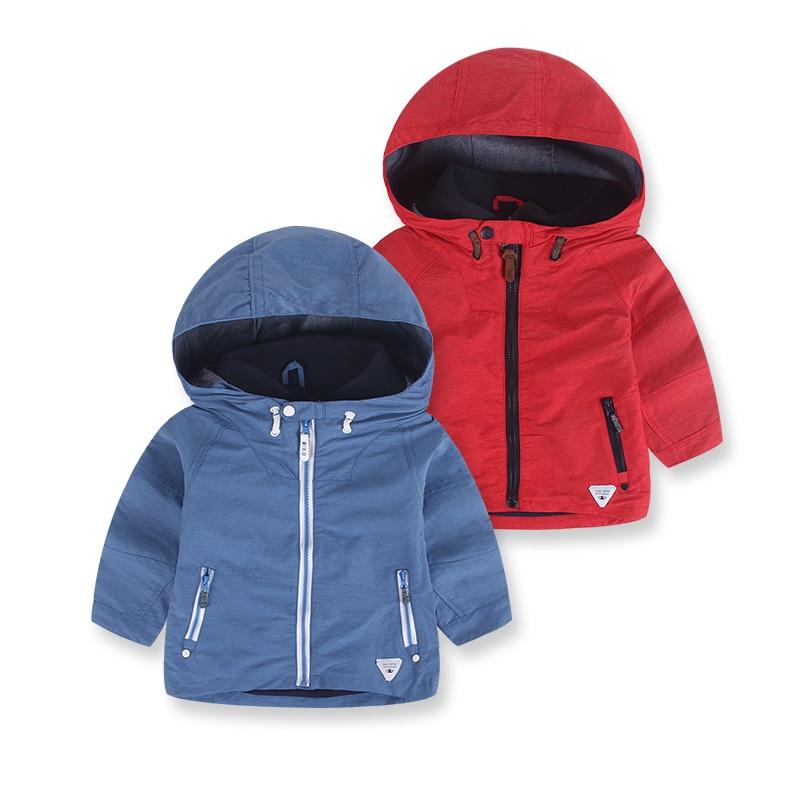 Модные повседневные Пиджаки Детские пальто Демисезонный детские куртки с капюшоном для Обувь для мальчиков