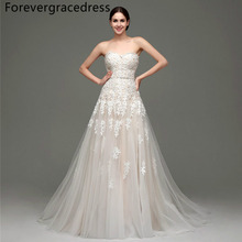 Forevergracedress Real Photo Elegant Wedding Dress Sweetheart Applique Tulle Long Lace Up Back Bridal Gown Plus Size Custom Made