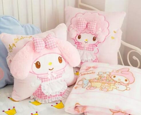 Rosa e Preto Decorar Bonito Dourado Travesseiro Crianças