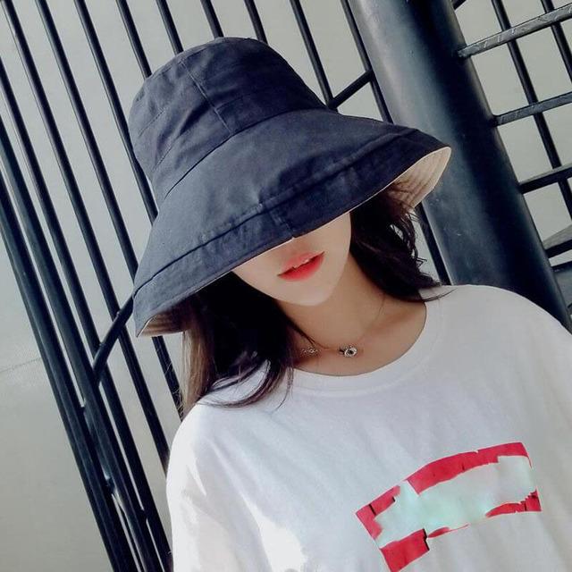 Summer Cotton Vacation Wide Brim Beach Fold able Bucket Hat