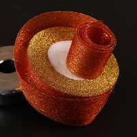 1 '' (25mm) di colore ROSSO 10 Yard/Scintillio del nastro tessitura per i mestieri fiocco regalo di nozze decorazione avvolgimento riband DI