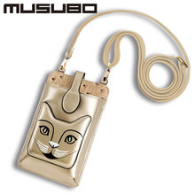 Musubo Women Phone Bag For iPhone Samsung Leather Crossbody Case Shoulder Bags Handbag Fashion Messenger Bag Ladies Cross Body(China)