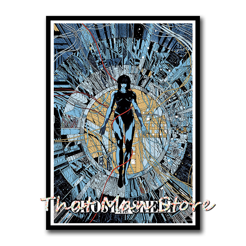 GHOST IN THE SHELL POSTER FILM ART A4 A3 PRINT CINEMA MOVIE