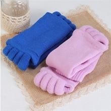 1 Pair Leisure Massage Five Toe Socks Toe Separator Foot Alignment Pain Relief Socks For Woman