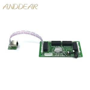 Image 1 - OEM PBC 8 Port Gigabit Ethernet Switch 8 Port met 8 pin way header 10/100/1000 m hub 8way power pin Pcb board OEM schroef gat