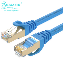 SAMZHE Cat7 FTP Патч-Кабель Ethernet-RJ45 Компьютер, PS2, PS3, XBox Сети LAN Шнуров 0.5/1/1.5/2/3/5/8/10/15/20/25/30/40/50 м