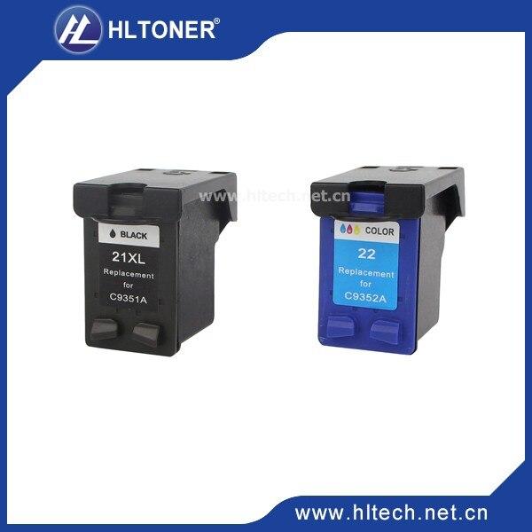 2 stücke kompatibel tintenpatrone hp22XL HP21XL für F4172 F4180 F4185 F4190 F4194...