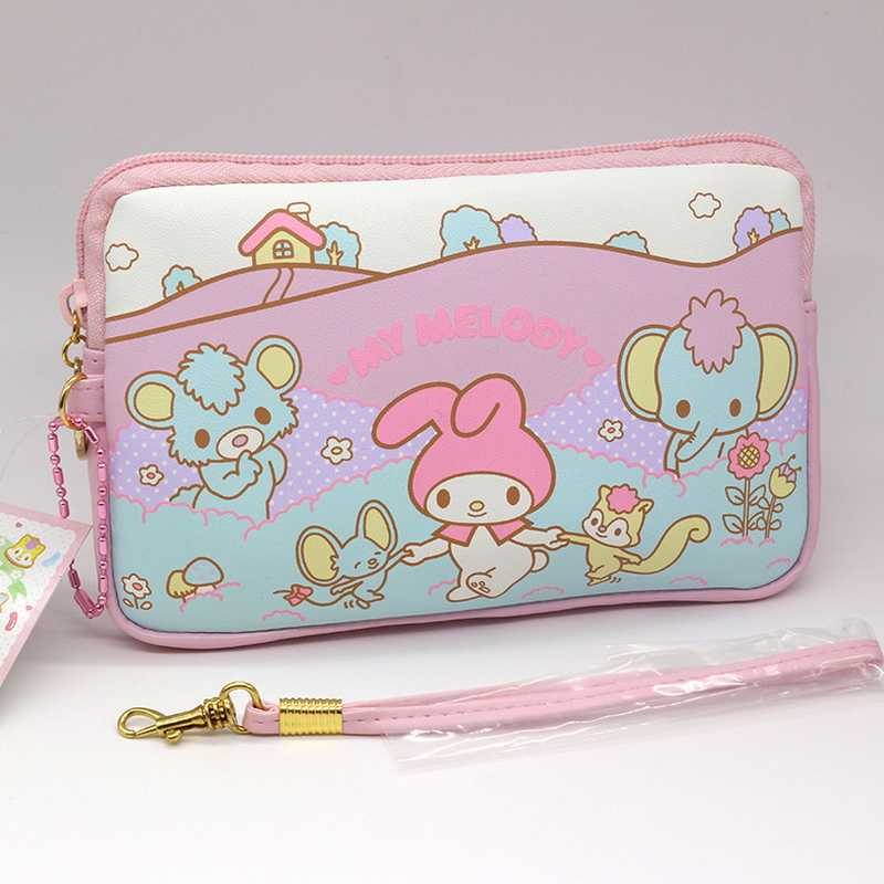 Япония и в Корейском стиле розовый My Melody мультфильм Косметика сумка косметичка на молнии Высокое качество PU милый несессер Бесплатная доставка