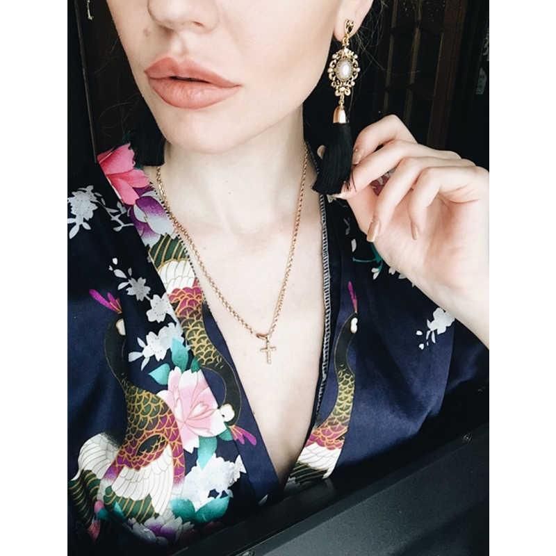 H3 Bohemian Style Tassel Earrings Exquisite Handmade Long Fringe Drop Earrings For Women Fashion Wedding Jewelry Gift Wholesale
