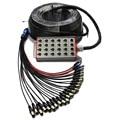 Высокое качество KL Pro аудио 24 канала-100 футов (30 м) XLR микрофон сценический Змеиный кабель с коробкой