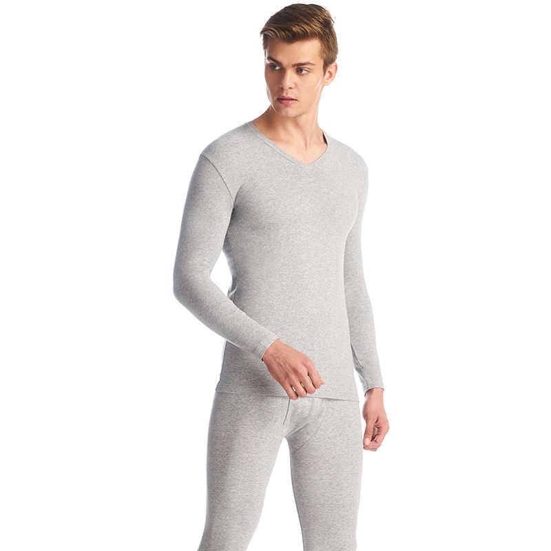 Ensemble de sous-vêtement thermique triplegun col en v couleur coton Long Johns hommes hiver chaud sous-vêtement en lycra pyjama Roupa Termica sous-vêtements