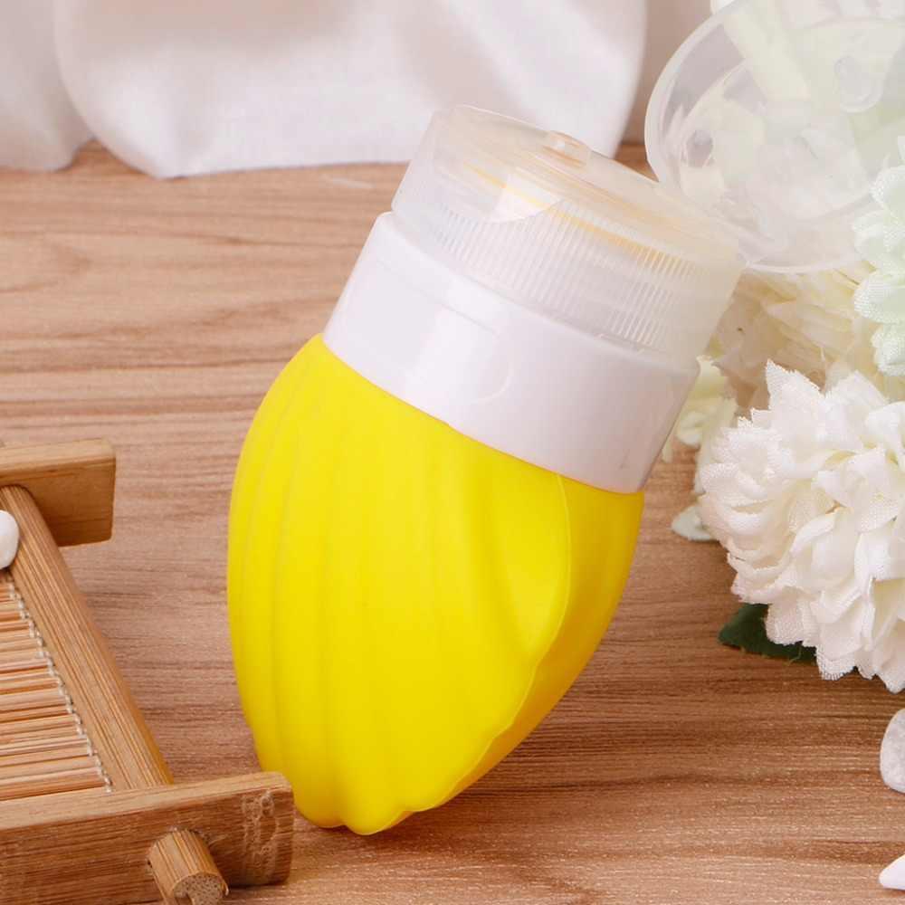 40ML sans BPA Silicone presser bouteille de voyage coquillage forme vide conteneur Tube bleu clair/violet/rose/jaune/blanc laiteux
