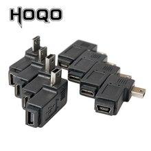 Mini adaptateur usb micro usb 90 degrés angle droit gauche mini usb vers micro usb mâle vers femelle connecteur adaptateur de charge de données de synchronisation