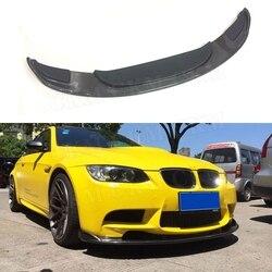 Wyścigi samochodowe dokładka przedniego zderzaka do BMW serii 3 E90 E92 E93 M3 2009-2012 styl hm zderzak podbródka łopata Protector Carbon fibre