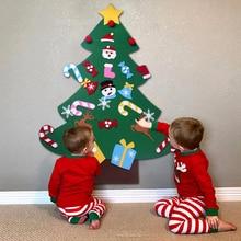 DIY Felt Christmas Tree Decorations Xmas Hanging Ornaments Home Decor Happy New Year 2019 Children Gift