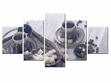 Fashion 5 Panel Modern Printed Poster series Painting Picture Canvas Art for Living Room No Frame /still life-42
