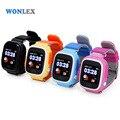 Wonlex 2016 gsm wifi gps tracker watch touch screen mtk2503 gw100 smartwatch telefone sos rastreamento criança relógios frete grátis