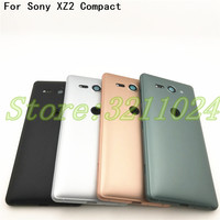 Good quality New For Sony Xperia XZ2 Compact XZ2 Mini Back Battery Glass Cover Rear Door Housing Case With Camera Lens And Logo