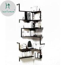 Луи Мода книжный шкаф железная настенная полка подвесной креативный дисплей спальня фон украшение промышленный ветер