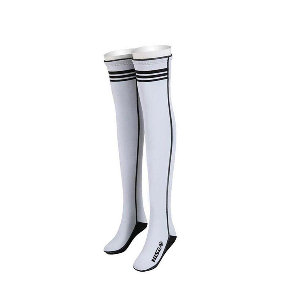 Chaussettes de plongée sport longues Super élastiques chaussettes de natation sur le genou plage Protection solaire chaussette chaude