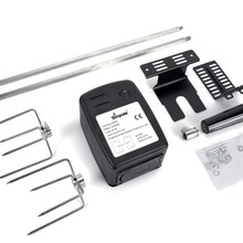 FREE SHIPPING DC baterry bbq support skewers and battery motor with supports,bbq grill long skewer with 2 forks(prongs)