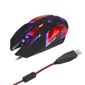 Image 3 - HXSJ 3200 DPI professionnel USB filaire rapide lumière LED avec 6 boutons souris de jeu pour ordinateur portable