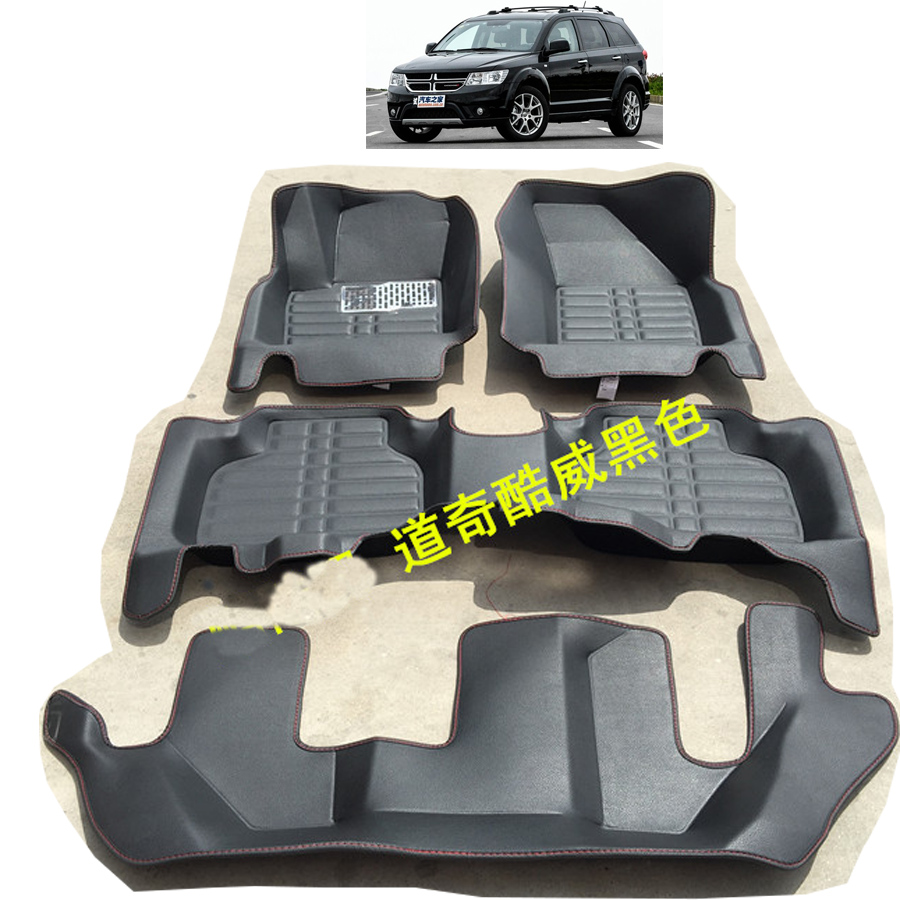 fast shipping fiber leather car floor mat for Fiat Freemont dodge Journey 2008 2017 2009 2010 2011 2012 2013 2014 2015 7 seats