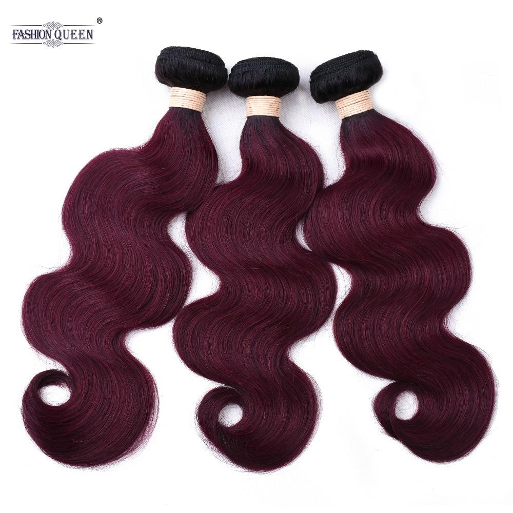 Pre-farbige Haarwebart Tb/99j Nicht Remy Menschliches Haar Bundles 3 Pc Peruanische Rot Lila Farbe Körper Welle Haar Extensions Salon Bündel-haare