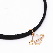 Leather  Planet Choker Necklace