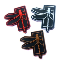 60 PCS Dragonfly Logo Military Tactical Morale 3D PVC Patch Badges Rubber Patch Morale Military Armband Tactical Patches