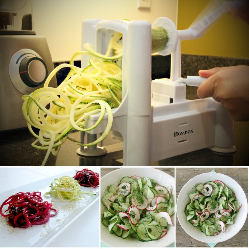 Kitchen Accessorie Tri-Blade Spiral Potato Clever Cut Vegetable Slicer Cucumber Graters Vegetable Tools Spiralizer Chopper R3
