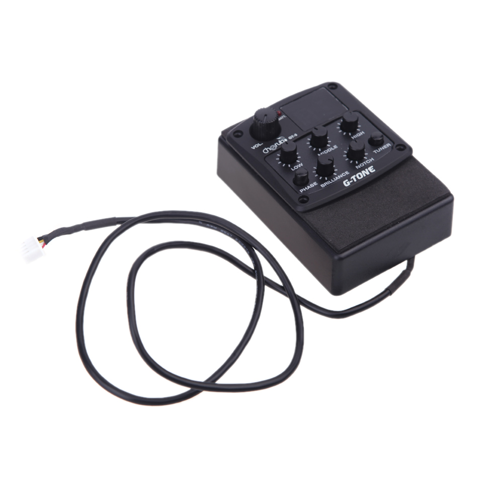 3 Band Eq Equalizer Acoustic Guitar Preamp Piezo Pickup Lcd Jack Wiring Diagram Battery With Tuner Function Cherub G Tone In Parts Accessories From Sports