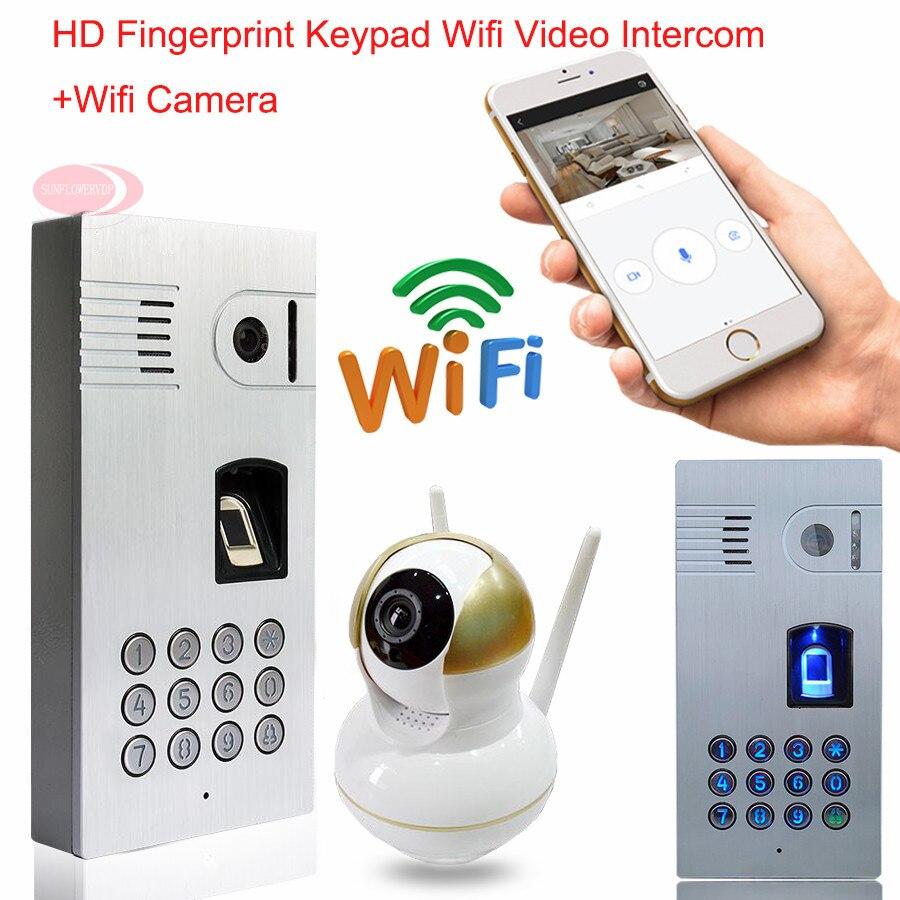 Wifi Video Door Phone Intercom Wireless Network Fingerprint Code Keypad Video Intercom Waterproof IP66 Doorbell for Android IOS network code of practice developments