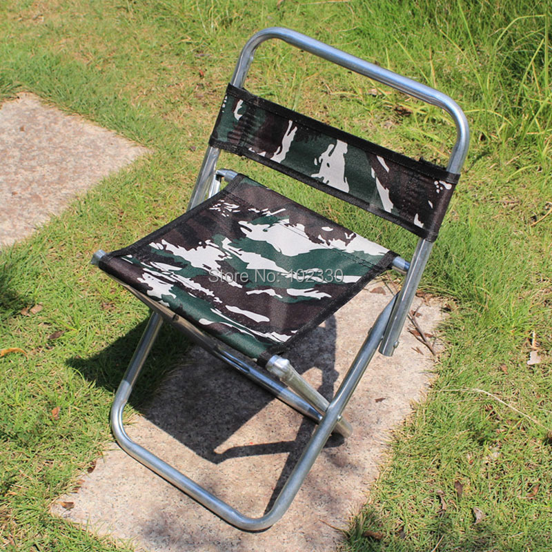 10pcs Portable Collapsible Camouflage Fishing Chair Camping BBQ Stool Folding Extended Hiking Seat Garden Outdoor Furniture