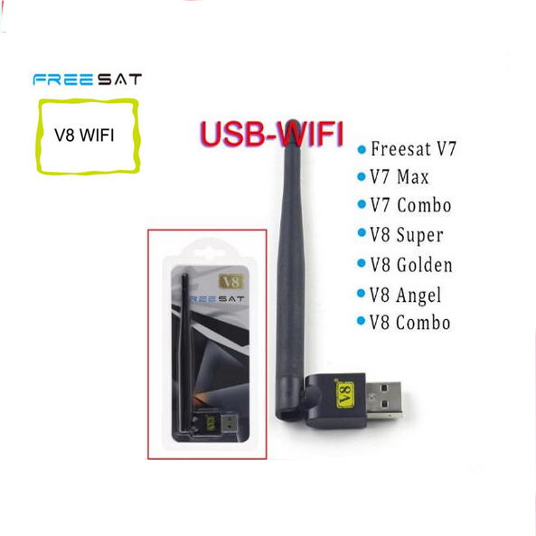 [GENUINE] FREE SAT V8 USB wifi with Antenna work for Free sat V7 V8 series digital satellite receivers and other FTA set top box