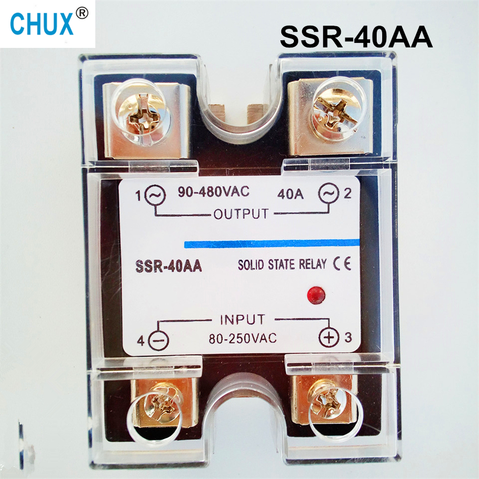 popular sales SSR 40A  facory supply 220V AC-AC Single phase Solid State Relay 40a   (SSR-40AA) normally open single phase solid state relay ssr mgr 1 d48120 120a control dc ac 24 480v